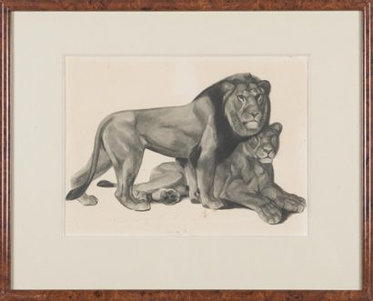 Georges-Lucien GUYOT (1885-1937) : Couple...