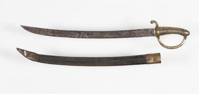 Sabre briquet an XI avec fourreau