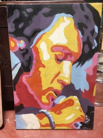 Elvis Huile sur toile 60 x 90 cm