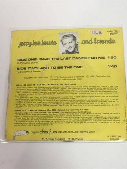 Jerry Lee LEWIS, Save the last dance for me, 45 T (cachet à l'encre) FDM 70001