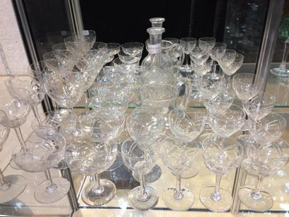 Service de verre en cristal complet en Six...