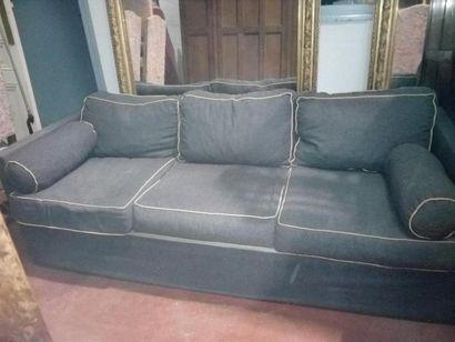 Grand canapé tissu gris