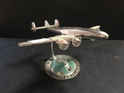 Air France maquette d'avion en métal chr...
