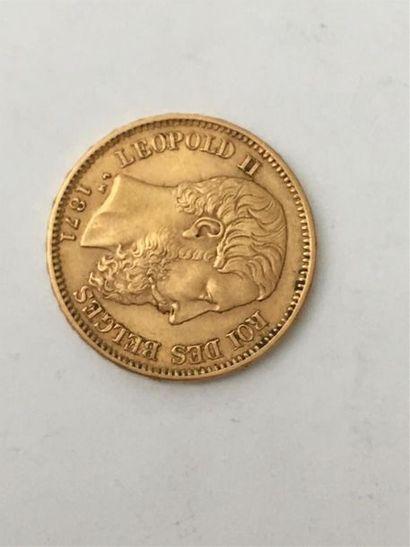 20 francs Belge Leopold II