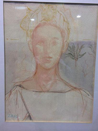 Jean BERTHELIER, portrait de jeune fille...