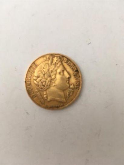 Une pièce de 20 francs II République