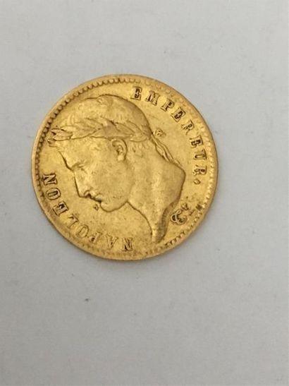 Une pièce de 20 francs Napoléon I Lauré