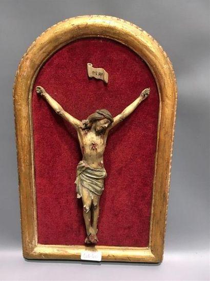 Christ en bois polychrome H Christ : 26c...