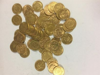 Cinquante cinq pièces de 20 francs or