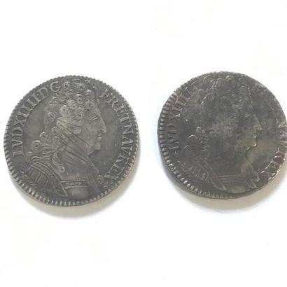 LOUIS XIV 1/2 ECU AUX 3 COURONNES 1710 H...