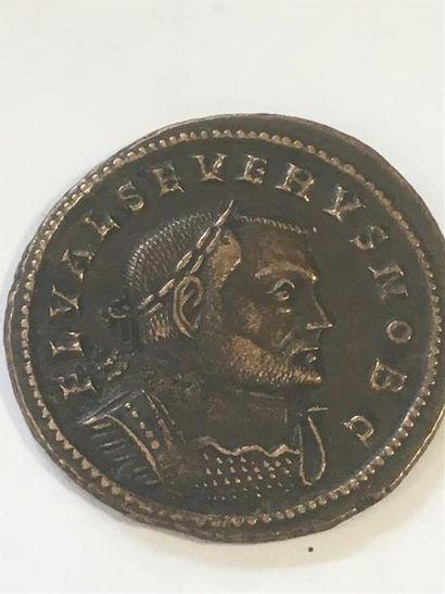 SEVERE II Cesar ( 306 - 307 ) FOLLIS de billon...
