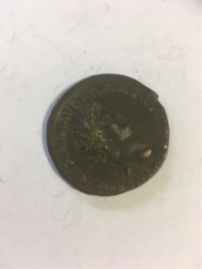 NERON (54 - 68 ) DUPONDIUS en laiton frappé...