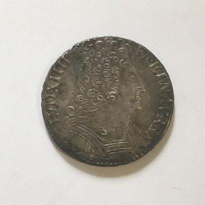 LOUIS XIV 1/2 ECU AUX 3 COURONNES 1714 AIX...