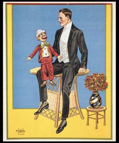 PASSE-PARTOUT DE VENTRILOQUE.Un ventriloque...