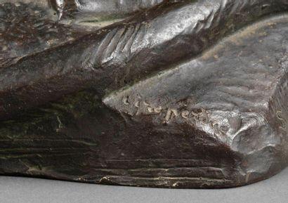 Georges Lucien GUYOT Georges Lucien GUYOT (1885-1973) - La caresse, vers 1935 - Bronze...