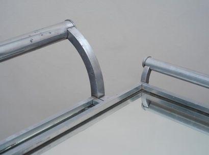 JACQUES ADNET Jacques ADNET (1900-1984) -  Table roulante  A structure de section...