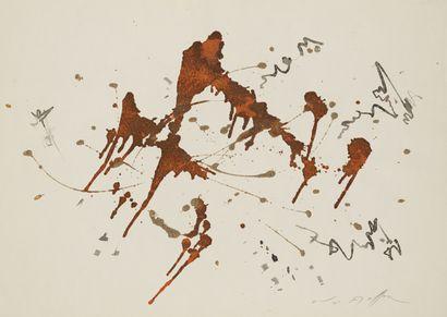 André MASSON André MASSON (1896-1987) - Composition, encre et collage sur papier...