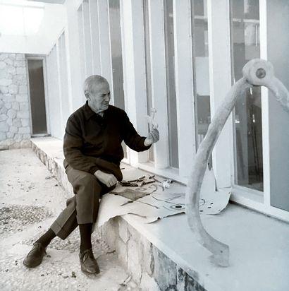 JOAN MIRÒ Joan MIRO (1893-1983) - Sans titre - Circa 1966 - Huile et crayon cire...