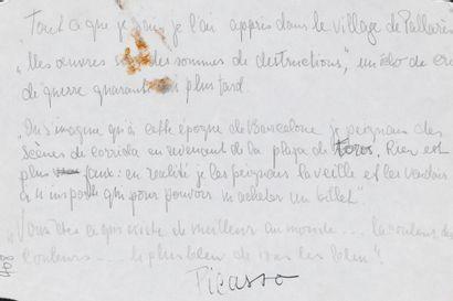 Richard de GRAB Texte rédigé de la main de Richard de GRAB, reprennant les dires...
