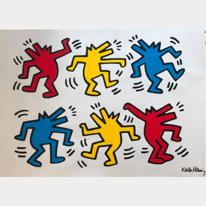 Keith HARING d'après - (1958-1990)