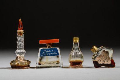 SCHIAPARELLI Lot de 4 miniatures homothétiques...