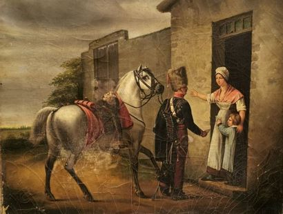 Oscar GUET (1801-1871) - Le billet de logement...