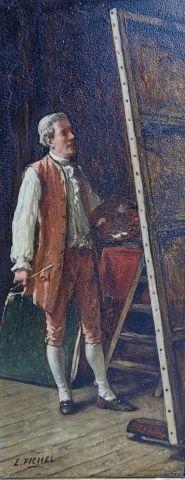 FICHEL Eugène (Paris 1826 - 1895) - L'artiste...