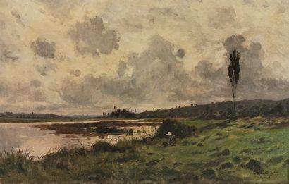 Edmond Charles YON (1836-1897) - Pêcheur...
