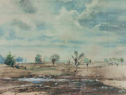 Jerzy René GROSZANG (1929-2004) - Paysage...