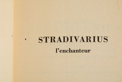 G.Hoffmann, Stradivarius l'enchanteur - Grasset...
