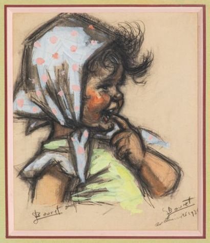 Germaine BOURET (1907-1953), Fillette au...