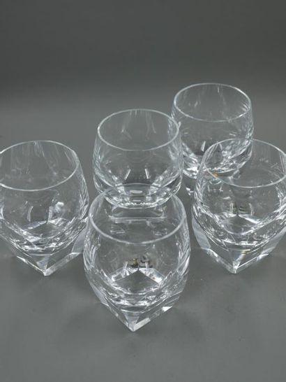 MOSER - quatre verres à eau en cristal -...
