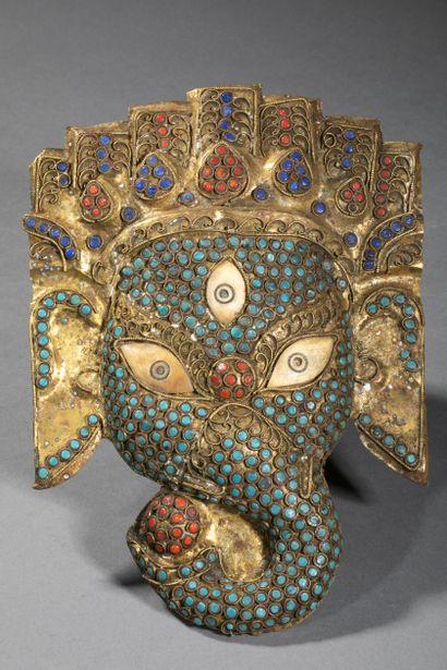 INDE ou HIMALAYA, XXème siècle. Beau masque...