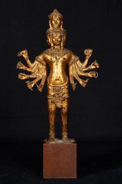 Cambodge, XXème siècle. Avalokiteshvara à...
