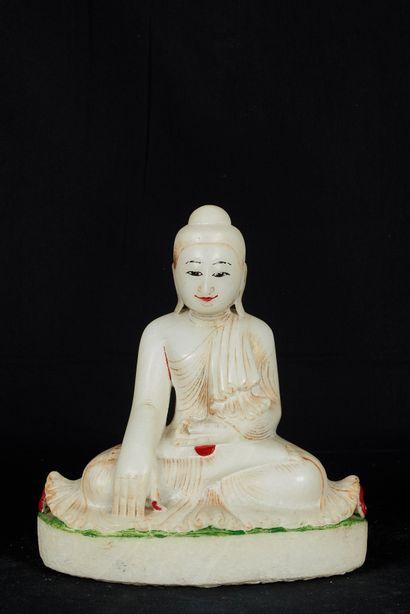 Birmanie, XXème siècle. Bouddha assis dans...