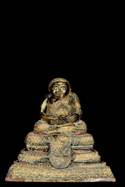 Thaïlande, XXème siècle. Phra Sankachai représenté...