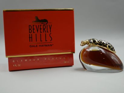 Beverly Hills. Gale Ayman. Flacon en verre....