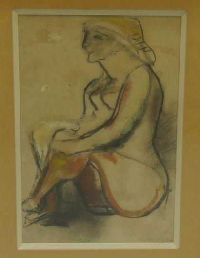 Edgar MELIK (1904-1976) - Jeune femme assise...