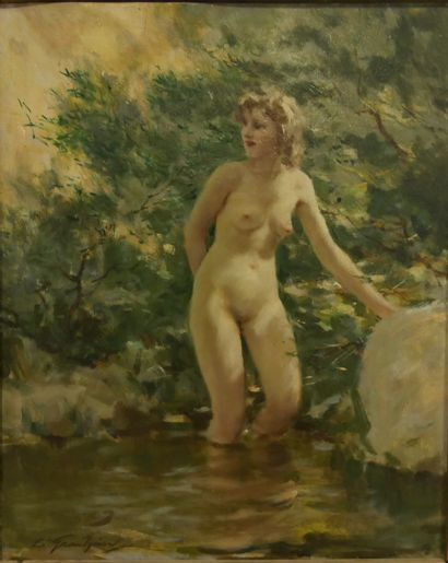 Lucien GRANDGÉRARD (1880-1970) - Baigneuse...