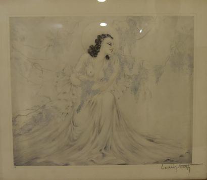 Louis ICART (1888-1950) - Jeune élégante...