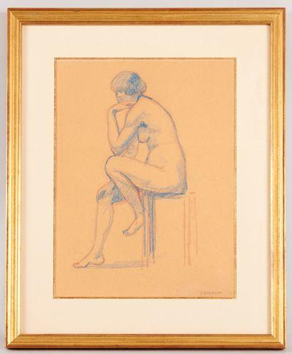 Serge Henri MOREAU (1892-1963) - Le modèle...
