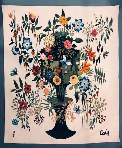 Odette CALY (1914-1993) Sonate Exa - Tapisserie...