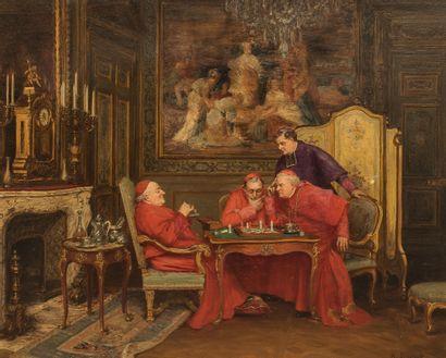 Henri BRISPOT (1846-1928) - La partie d'échec...
