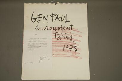 (Eugène Paul dit) GEN PAUL (1895-1975) -...