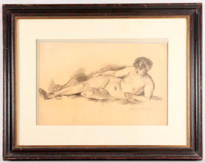 Henry OTTMANN (1877-1927) - Nu allongé -...