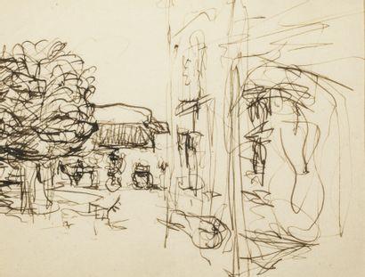 Edouard VUILLARD (1848-1940) - Vue de jardin...