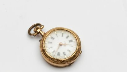 Montre à gousset en or 18k - Fin XIXème -...