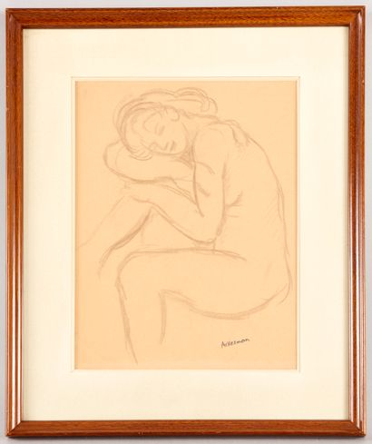 Paul ACKERMAN (1908-1981) - Jeune femme assoupie...