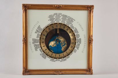 Horloge murale représentant l'heure universelle...