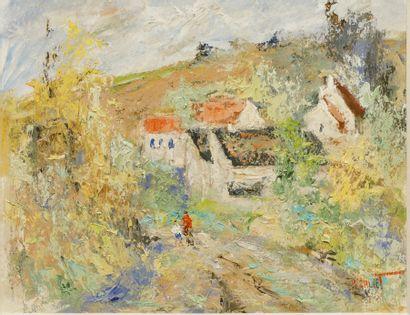 Michel CALVET (né en 1956) - Paysage de Provence...